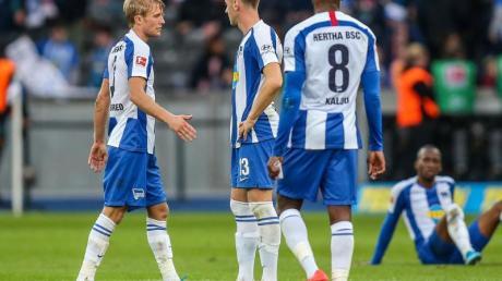 Hertha BSC steht vor einer richtungsweisenden Woche. Foto: Andreas Gora/dpa