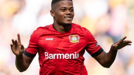 Leverkusen konnte im Training wieder auf Leon Bailey setzen. Foto: Marius Becker/dpa