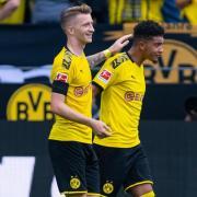 Drohen dem BVB gegen Bayern auszufallen: Jadon Sancho (r) und Marco Reus. Foto: Guido Kirchner/dpa