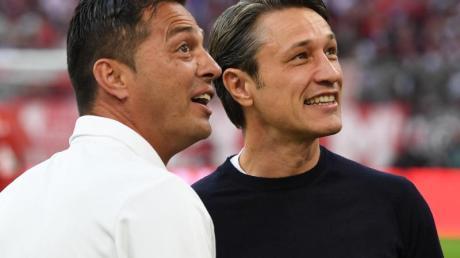 Freunde: Ante Covic (l) und Niko Kovac. Foto: Sven Hoppe/dpa