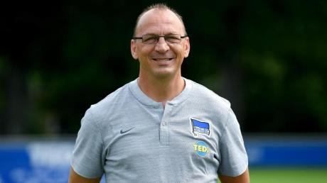 Andreas Thom arbeitet als Individualtrainer bei Hertha BSC. Foto: Britta Pedersen/dpa