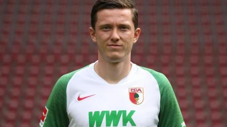 Michael Gregoritsch will den FC Augsburg im Winter verlassen. Foto: Karl-Josef Hildenbrand/dpa