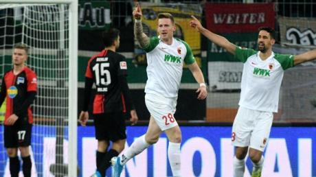 André Hahn war beim Sieg gegen Berlin ein wichtiger Faktor – nicht zuletzt wegen seines Tors zum 3:0.