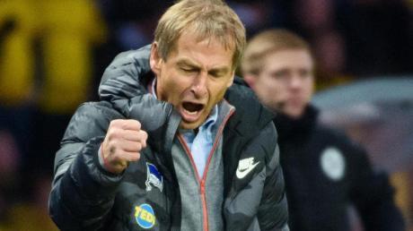 Kehrt nach der Niederlage gegen Borussia Dortmund den «positiven Flow» seines Teams heraus: Herthas neuer Trainer Jürgen Klinsmann.