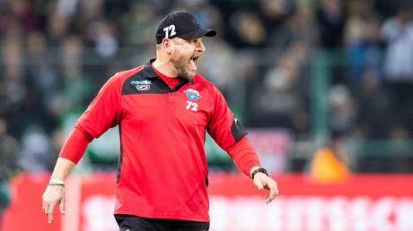 Frustriert in Gladbach: Paderborn-Coach Steffen Baumgart.