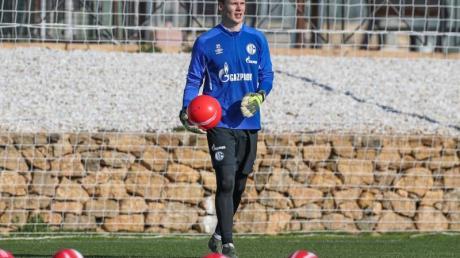 Alexander Nübel nimmt am Training vom FCSchalke teil, aber nicht am Testspiel.