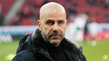 Soll seinen Vertrag in Leverkusen verlängern: Trainer Peter Bosz.
