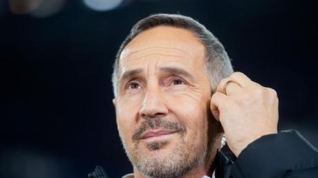 Frankfurts Trainer Adi Hütter denkt derzeit nicht an eine Qualifikation für einen europäischen Wettbewerb.