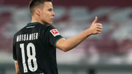 Bremens Niklas Moisander musste 37 Spiele auf einen weiteren Torerfolg warten.