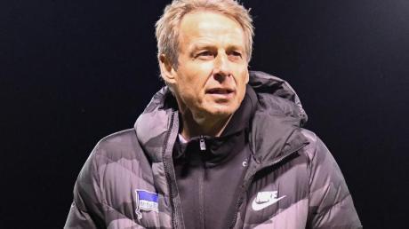 Traut Bayern München viel zu: Jürgen Klinsmann,Trainer von Hertha BSC.