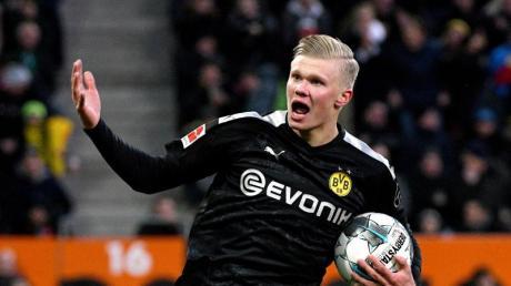 Der BVB verpflichtete in der Winterpause Topstürmer Erling Haaland.