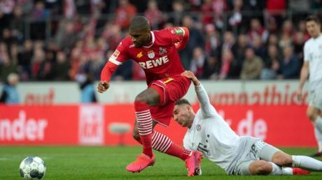 Der 1. FC Köln muss auf Anthony Modeste (l) verzichten.