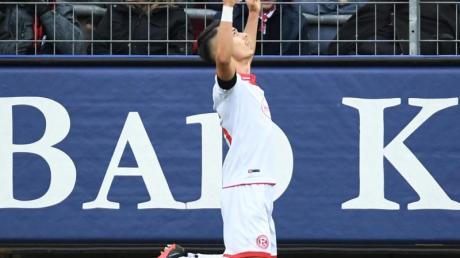 Erzielte nach einem Lauf über fast das genze Spielfeld das Tor zum 2:0 für Fortuna Düsseldorf: Erik Thommy.