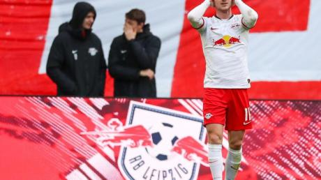 Leipzigs Stürmer Timo Werner hat muskuläre Probleme im Oberschenkel.
