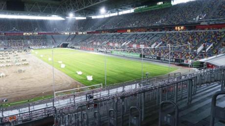 Auch beim Bundesliga-Spiel Fortuna Düsseldorf gegen den SCPaderborn bleiben die Zuschauerränge leer.