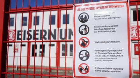 In Berlin bleiben die Stadiontore von Hertha BSC und Union bis mindestens 19. April geschlossen.