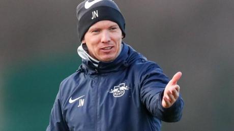 Leipzigs Trainer Julian Nagelsmann bat seine Spieler wieder zu Training.