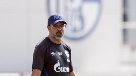 Schalke-Trainer David Wagner bringt die Spieler in deren eigenen Wänden zum Schwitzen.