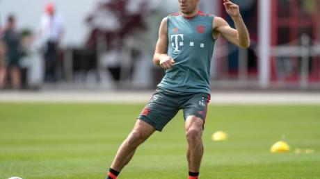 «Zurück» im Bayern-Training: Arjen Robben.
