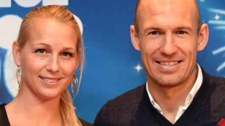 Arjen Robben und seine Frau Bernadien Eillert.