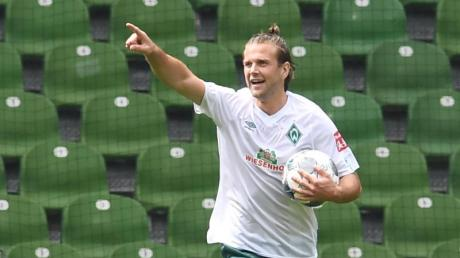 Ist Union Berlin für die Schützenhilfe im Abstiegskampf dankbar: Werders Niclas Füllkrug jubelt nach seinem Tor zum 3:0 gegen Köln.