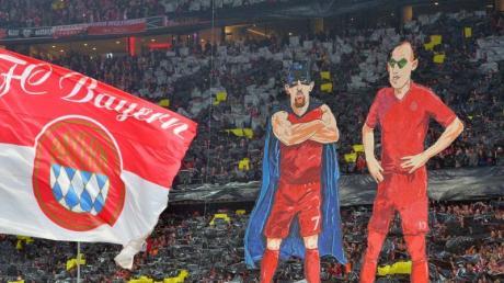 Streitfall vor Gericht: Die Karrikaturen von Franck Ribéry (l) und Arjen Robben aus dem Jahr 2015.