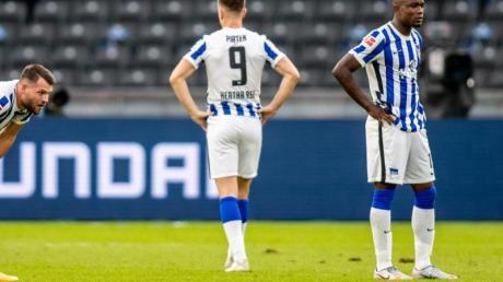 Enttäuscht: Herthas Profis kassierten die dritte Niederlage in Serie.