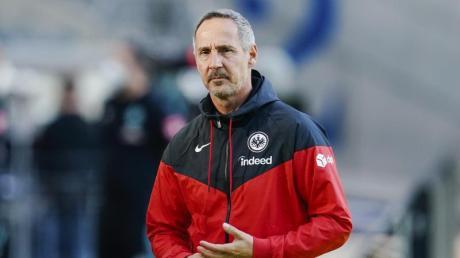 Frankfurt-Coach Adi Hütter. Die Spiele von Eintracht Frankfurt lassen sich im Live-TV und Stream sehen. Hier gibt es die Infos zur Übertragung in der Bundesliga-Saison 2020/21.