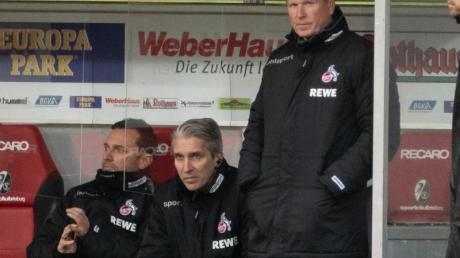 Kölns Trainer Markus Gisdol (r) steht unter Druck.