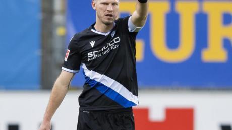 Arminia-Kapitän Fabian Klos soll für die Bielefelder Tore sorgen.