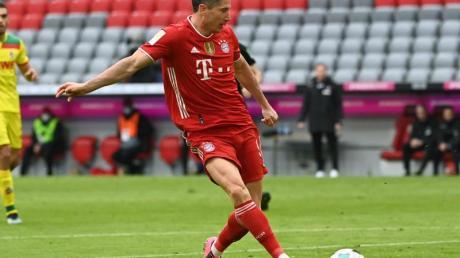 Zeigte sich auch gegen Köln treffsicher: Bayern-Torjäger Robert Lewandowski.