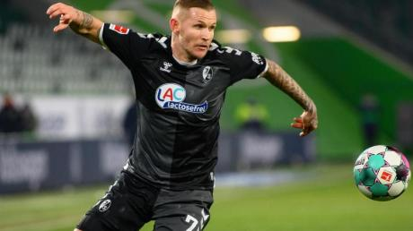 Freiburgs Jonathan Schmid ist mit 274 Einsätzen neuer französischer Bundesliga-Rekordspieler.