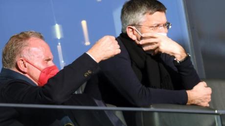 Beziehen klar Position zur Super League: Bayern-Vorstandsboss Karl-Heinz Rummenigge (l) und Club-Präsident Herbert Hainer.