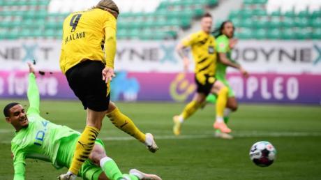 BVB-Torjäger Erling Haaland war Dortmunds Matchwinner in Wolfsburg.