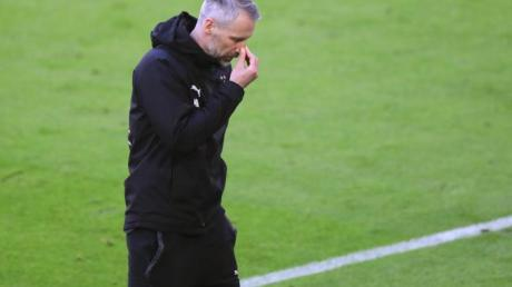 Mönchengladbachs Trainer Marco Rose war nach dem 0:6 in München bedient.