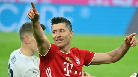 Musste eine Trainingseinheit vorzeitig beenden: Bayern-Torjäger Robert Lewandowski.