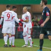 Der FC Bayern München gewann locker in Paderborn, aber lobte den Gegner. Foto: Friso Gentsch