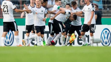 Der SV Sandhausen gewann souverän in Oberhausen. Foto: Marcel Kusch