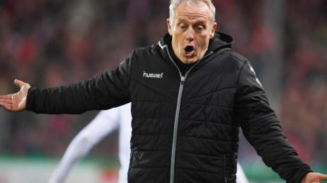 Nicht nur wegen der Leistung seiner Elf mächtig angesäuert: Freiburg-Coach Christian Streich.