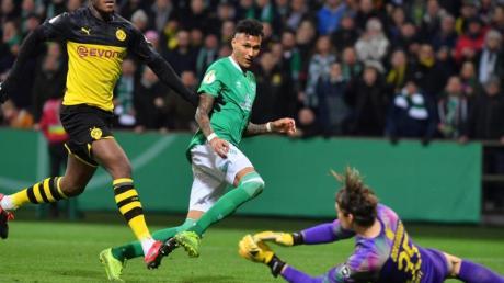 Werder-Neuzugang Davie Selke sorgte für die Führung beim Bremer Sieg gegen Dortmund.