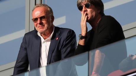 Wollen sich beim Pokal-Finale auf einen Espresso treffen: Bayern-Boss Karl-Heinz Rummenigge und Bundestrainer Joachim Löw.