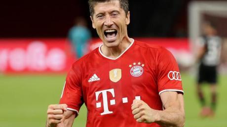 Traf auch im DFB-Pokalfinale doppelt: Bayern-Star Robert Lewandowski.