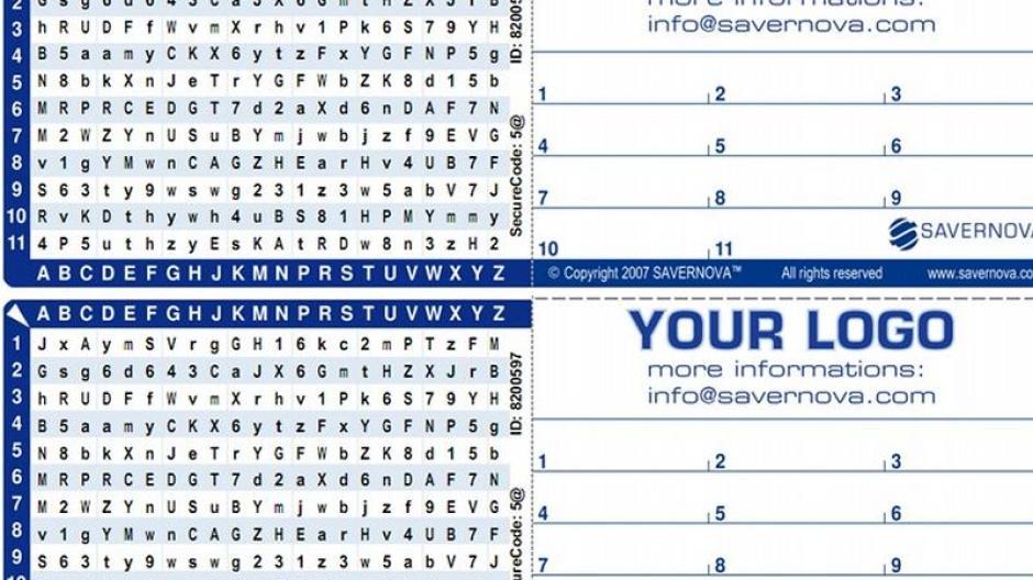 Computer Eine Passwortkarte Als Gedankenstutze Augsburger