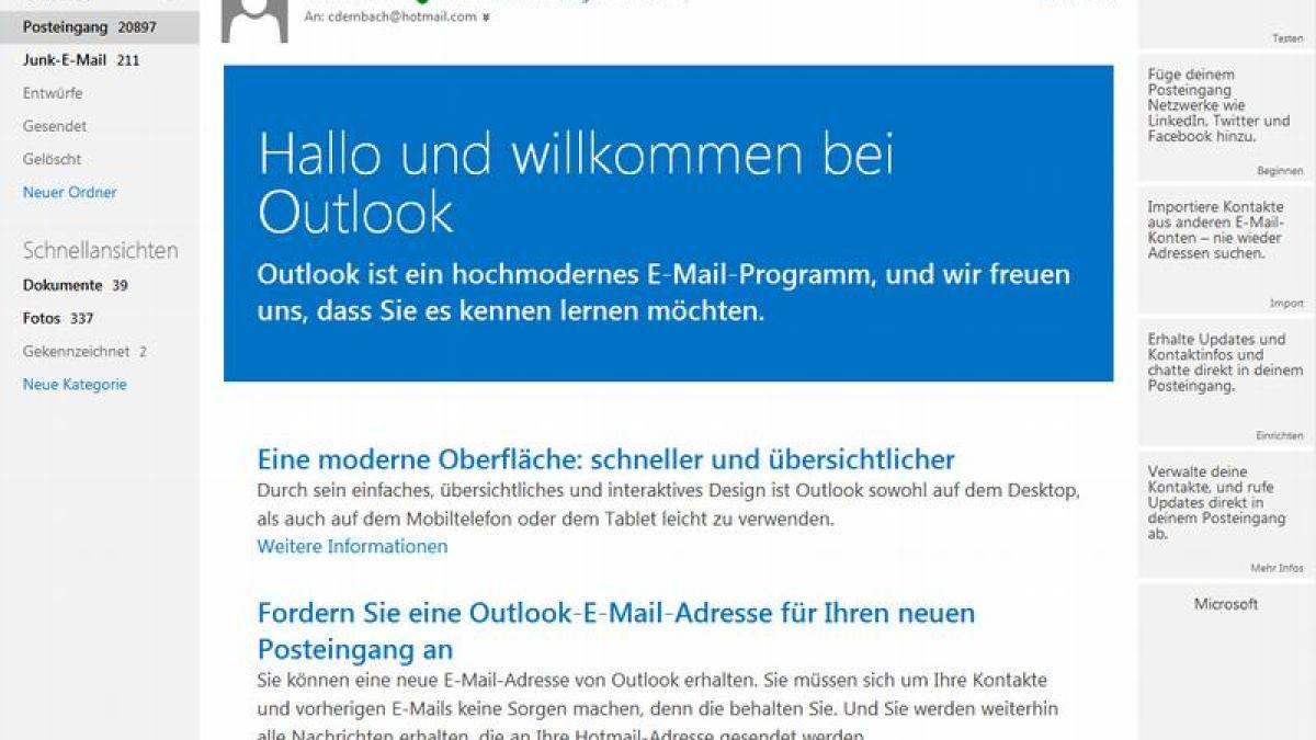Hotmail Email Vergessen