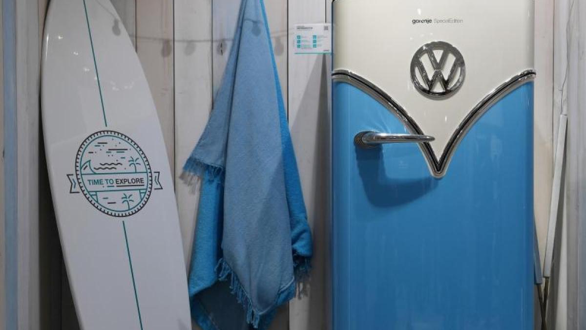 Gorenje Vw Bus Kühlschrank : Gorenje obrb r vw bulli retro kühlschrank a kwh jahr
