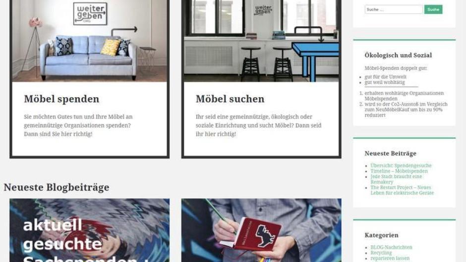 Online Initiative Surftipp Gebrauchte Möbel Für Soziale