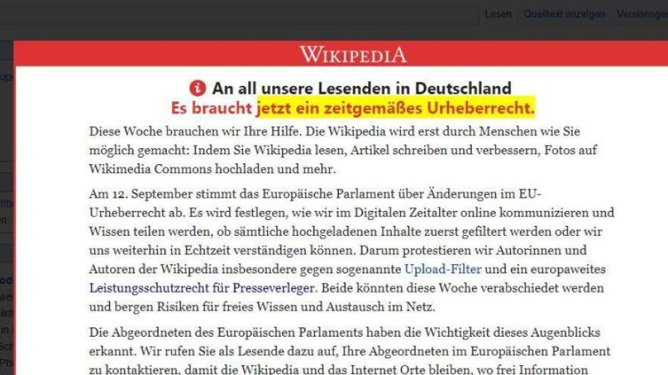 Abschaltung: Wikipedia offline Streik am 21.3.: Darum wird