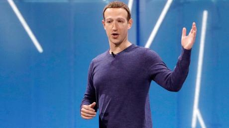 Facebook-Chef Mark Zuckerberg auf der neuerlichen Entwicklungskonferenz des Unternehmens. Marcio Jose Sanchez/AP/dpa Foto: Marcio Jose Sanchez