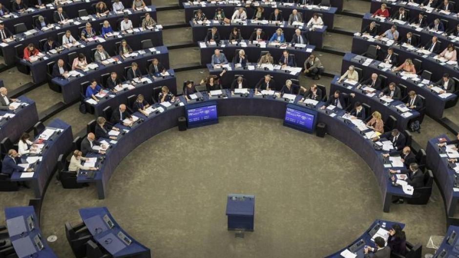 Mitglieder des Europäischen Parlaments nehmen an einer Abstimmung teil. Wird die Europwahl durch Falschmeldungen beeinflusst? Foto: Jean-Francois Badias/AP/dpa