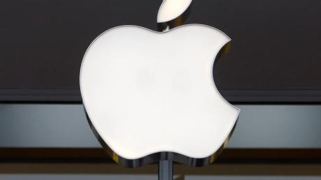 Das Apple-Logo ist an einem Apple-Store zu sehen. Foto: Shawn Thew/EPA FILE/dpa
